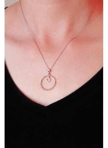 Argentum Concept Argentum Concept N137501 925 Ayar Sallantılı Kalp Motifli Silver Kadın Kolye Gümüş